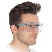 HYGOSTAR Schutzbrille für Brillenträger, transparent