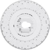 RNK Verlag Original HAUG Diagrammscheiben 125 151 (125 km h Automatik), 100 Stück