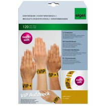 "sigel Eventbänder ""Super Soft"", mit Aufdruck ""VIP"", gold"