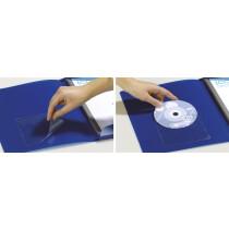 DURABLE Selbstklebetaschen POCKETFIX CD DVD, transparent