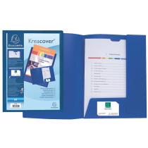 EXACOMPTA Präsentationsmappe KREA COVER 43502E, blau, 400my