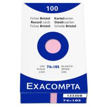 EXACOMPTA Karteikarten, blanko 13340B, grün, A7, Inh. 100