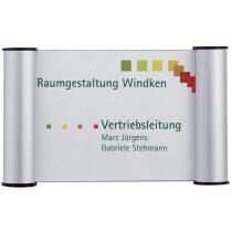 FRANKEN Türschild Clip, 180 x 115 mm - A6, silber