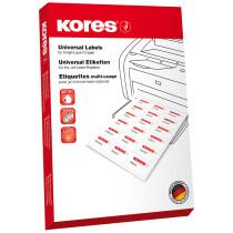 Kores CD DVD-Etiketten, Durchmesser: 117 mm, weiß