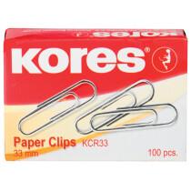 Kores Büroklammern, 50 mm, verzinkt