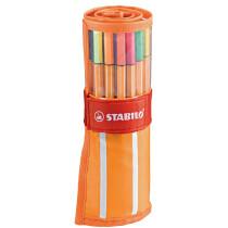STABILO Fineliner point 88, 30er Rollerset, orange weiß