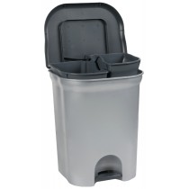 "keeeper Tret-Abfallbehälter ""torge"", 2x 11 Liter, silber"