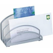WEDO Briefständer Mesh 65354, silber, 3 Fächer, 180x85x125mm
