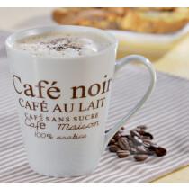 Esmeyer Kaffeebecher Form FAKT 302-007 weiß braun Inhalt 6 Stück