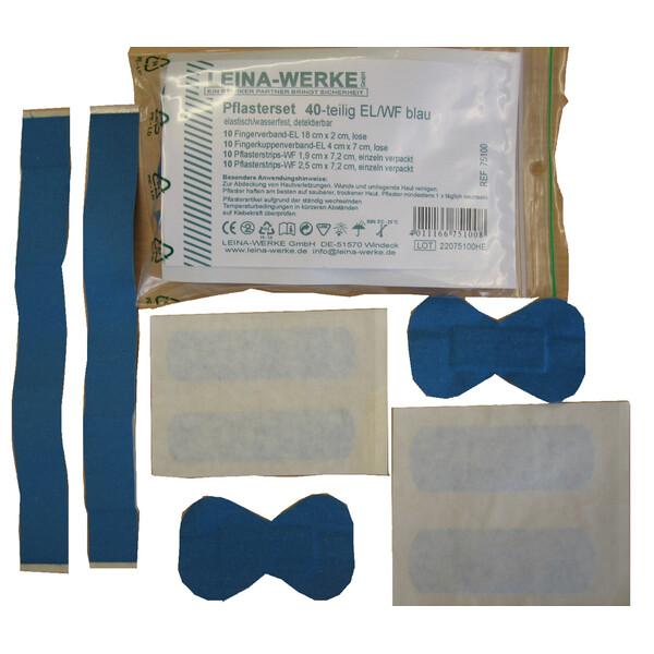 LEINA Pflasterset 40-teilig blau 75100 elastisch// wasserfest 4011166751008
