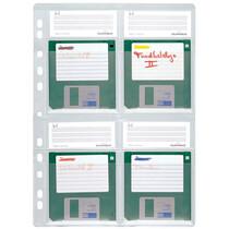 """DURABLE Disketten-Hülle, für 4 x 3,5"""" Disketten, DIN A4"""