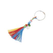 """folia Deko-Quasten """"RAINBOW"""", 10-farbig sortiert"""