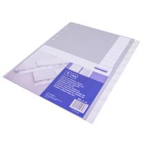 proOFFICE Kunststoff-Tabenregister, A4, 20-teilig