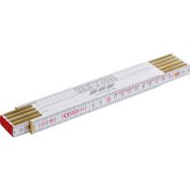 HEYCO Holz-Gliedermaßstab aus Buchenholz, Länge: 2.000 mm