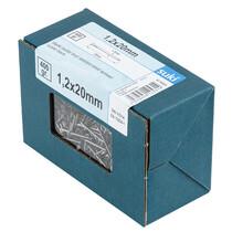 suki. Drahtstift, Stauchkopf, 1,2 x 20 mm, blank, 400 g