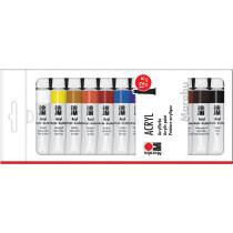 Marabu Acrylfarbe, 12 ml, 12er-Set