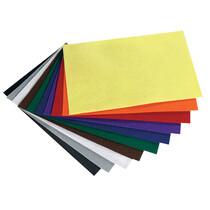 folia Bastelfiz, 200 x 300 mm, 150 g qm, farbig sortiert