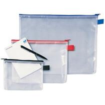 Rexel Reißverschlusstasche Mesh Bags, DIN A5, PVC, schwarz