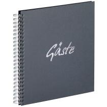 """PAGNA Gäste-Spiralbuch """"Gäste"""", anthrazit, 40 Seiten"""