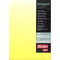 agipa Design-Papier, DIN A4, 80 g qm, Farbverlauf gelb