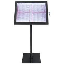 Securit LED-Schaukasten BLACK STAR, 4 x DIN A4 Seiten