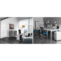 PAPERFLOW Rollcontainer easyBox, 4 Schübe, weiß anthrazit