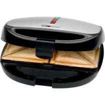 CLATRONIC Sandwich-Waffel-Grill ST WA 3670, schwarz-inox