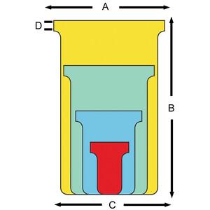 60 mm 170 g//qm gelb 100 Karten nobo T-Karten Größe 2