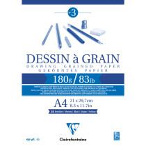 """Clairefontaine Zeichenpapierblock """"à Grain"""", DIN A4"""