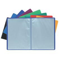 EXACOMPTA Sichtbuch, DIN A4, PP, 40 Hüllen, blau