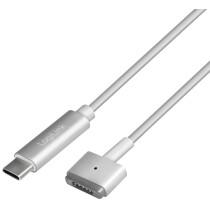 LogiLink USB-C - Apple MagSafe 2 Ladekabel, silber